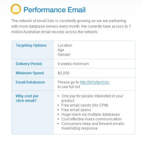 Performance email 2